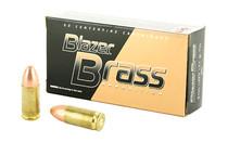 CCI BLAZER Brass 9mm Luger 124 Grain FMJ 50 Round Box of Centerfire Ammunition (5201)