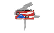 RISE Patriot Trigger with Anti-Walk Pins and Challenge Coin Red (RA-13FOLDS-PT)
