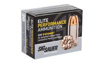 SIG SAUER V-Crown Elite Performance 9mm 124 Grain 20rd Box of Jacketd Hollow Point Pistol Ammunition (E9MMA2-20)