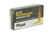 SIG SAUER Elite Performance Match 300AAC Blackout 220Gr 20Rd Box of Open Tip Match Rifle Ammunition (E300A2-20)