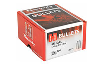 HORNADY .45 Caliber 230Gr 100Rd Box of FMJ Round Nose Bullets for Reloading (45177)