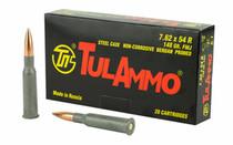 TULAMMO 7.62x54mmR 148Gr 20Rd Box of FMJ Rifle Ammunition (TA76254)