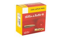 SELLIER & BELLOT Match 338 Lapua 300Gr 10Rd Box of BTHP Rifle Ammunition (SB338LMB)