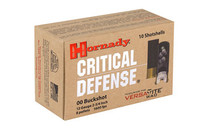HORNADY Critical Defense 12Ga 00 Buck 10Rd Box of Shotshell Ammunition (86240)