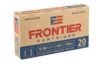 HORNADY Frontier 5.56 NATO 62 Grain 20Rd Box of FMJ Rifle Ammunition (FR260)