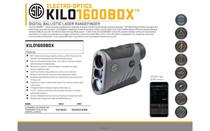 SIG SAUER Kilo BDX 1600 6x22mm Laser Rangefinder Black (SOK16607)