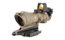 TRIJICON ACOG 4x32 Dual Illuminated Green Crosshair .223 Reticle Riflescope and Type 2 RMR with Backup Iron Sights and Quick Release Mount (TA31-D-100554)