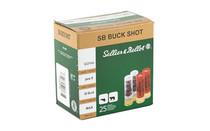 """SELLIER & BELLOT 12Ga 2.75"""" 9 Pellets 00 Buck 25Rd Box of Shotshell Ammunition (SB12BSG)"""
