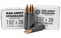 CENTURY ARMS Red Army Standard 7.62x39mm 122 Grain 20rd Box of Full Metal Jacket Rifle Ammunition (AM3265)