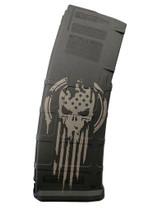 MAGPUL PMAG30 Patriot Skull Custom Engraved 30Rd .223/5.56 PMAG