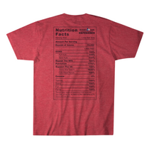 TGE Nutrition Men's T-Shirt Red Small (M-NUTRITION-SHIRT-RED-SM)