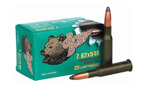 Brown Bear 7.62x54mm Rimmed Russian 230Grain 20Rd Box of Soft Point Rifle Ammunition (AB754SP)