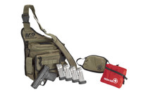 """SMITH & WESSON M&P9 Shield 9mm 3.1"""" Barrel 7/8Rd Semi-Automatic Pistol Bugout Bag Bundle with Face Mask, First Aid Kit, 5 Magazines (13383)"""