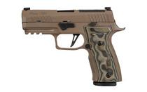 "SIG SAUER P320 AXG Scorpion 9mm 3.9"" Barrel 17Rd Custom Hogue Grips FDE Semi-Automatic Striker Fired Pistol (320AXGCA-9-CW-SCPN-R2)"