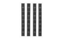 "ERGO WedgeLok M-LOK 6 1/4""x5/8"" Slot Cover Grip Rail Covers (4332-4PK-BK)"