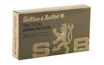 SELLIER & BELLOT 300 Blackout 200 Grain Subsonic 20rd Box of Full Metal Jacket Rifle Ammunition (SB300BLKSUBA)