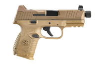 "FN AMERICA 509C Tactical 9mm 4.32"" Threaded Barrel 24Rd Optics Ready Suppressor-Height Night Sights FDE Semi-Automatic Pistol (66-100780) (66-100780)"