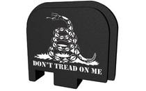 BASTION Black and White Don't Tread On Me Slide Back Plate for Glock 43 (GL-043-BW-75DTOM)