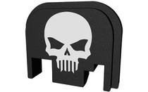 BASTION Black and White Skull Slide Back Plate for Glock (BASGL-SLD-BW-BTSKUL)
