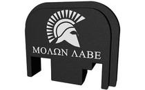BASTION Black and White Molon Labe Slide Back Plate for Glock (BASGL-SLD-BW-SMOLON)