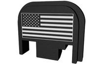 BASTION Black and White American Flag Slide Back Plate for Glock (BASGL-SLD-BW-USAFLG)