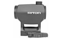 RITON OPTICS X1 TACTIX 1x23 2 MOA Lower 1/3 Cowitness Mount Red Dot and Flush Mount Red Dot Sight (1TARD)