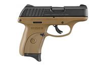 "RUGER EC9S 9mm 3.1"" Barrel 7Rd Compact Polymer Frame Striker Fired FDE Semi-Automatic Pistol (3297)"