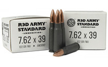 CENTURY ARMS Red Army Standard 7.62x39 122Gr 20Rd Box of Steel Case Full Metal Jacket Rifle Ammunition (AM3092)