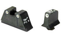 TRIJICON Bright & Tough Green Front Sight with Orange Rear Lamps for Glock Pistols (GL201-C-600650)