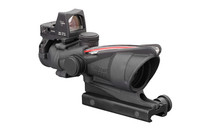 TRIJICON ACOG Dual Illuminated Red Chevron .223 Reticle Riflescope with Colt Knob Thumbscrew Mount and 3.25 MOA RMR Type 2 Red Dot Sight (TA31-D-100549)