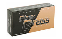 BLAZER Brass 40 S&W 180 Grain 50 Round Box of Full Metal Jacket Centerfire Flat Nose Pistol Ammunition (5220)