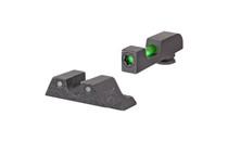 TRIJICON DI Tritium/Fiber Optic Night Sights Fits Glock 17,19,22,23,34,35,45 Does Not Fit MOS Models (GL801-C-601102)