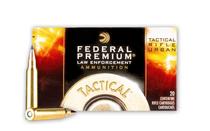 FEDERAL PREMIUM LE Tactical TRU 223Rem 55 Grain Nosler Ballistic Tip 20 Round Box of Rifle Ammunition (T223T)