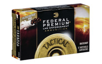 FEDERAL PREMIUM LE 12 Gauge 2.75in 8 Pellet 00 Buck with Flightcontrol 5 Round Box of Shotshell Ammunition (LE13300)
