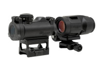 SIG SAUER Romeo MSR Red Dot & Juliet 3x22mm Magnifier Combo Kit with Absolute Cowitness Height Mount and Push Button Flip-to-Side Mount Included (SORJ72001)