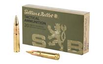SELLIER & BELLOT Tactical 300 Blackout 147 Grain Full Metal Jacket 20 Round Box of Rifle Ammunition (SB300BLKB)