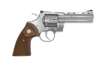 """COLT Python .357 Magnum 4.25"""" Barrel 6Rd Double Action Only Stainless Finish Walnut Grips Revolver (SP4WTS)"""