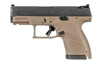 "CZ P-10S 9mm 3.5"" Barrel 12Rd Sub-Compact Polymer Frame Night Sights FDE Semi-Automatic Pistol (91561)"