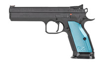 """CZ 75 Tactical Sport 2 9mm 5.2"""" Cold Hammer Forged Barrel 20Rd Full Size Black Frame Silver Grips Flared Magwell Ambidextrous Fixed Sights Semi-Automatic Pistol (91220)"""