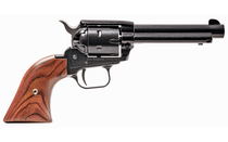 """HERITAGE Rough Rider .22LR 4.75"""" Barrel 6Rd Blued Finish Alloy Frame Cocobolo Grips Fixed Sights Single Action Revolver (RR22B4)"""