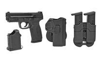 """SMITH & WESSON M&P 2.0 9mm 4.25"""" Barrel 17Rd Full Size Fixed Sights Polymer Frame Semi-Automatic Pistol Includes Caldwell Tac Ops Holster and Double Magazine Pouch (11765)"""