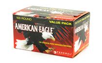 FEDERAL American Eagle 9mm 115Gr 100Rd Box of Full Metal Jacket Ammunition (AE9DP100)
