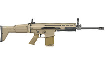 """FN SCAR 17S 308 Win/762 NATO 16"""" Chrome Lined Hammer Forged Barrel 20Rd Mag Telescoping Side Folding Stock Adjustable Sights FDE Semi-Automatic Rifle (98541-1)"""