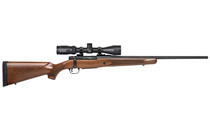 "MOSSBERG Patriot 7mm-08 22"" Fluted Barrel 5Rd Mag Matte Blued Finish Walnut Stock Adjustable Trigger Bolt-Action Rifle with Vortex 3-9x40 Scope (28058)"