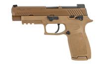SIG SAUER P320 M17 9MM 4.7in Barrel 17rd Mag x1 21rd Mags x1 Manual Safety with DP Pro Plate Siglite Night Sights Striker Fired Semi-Auto Full Size Pistol (320F-9-M17-MS-2M)