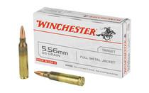 WINCHESTER 5.56X45mm NATO 55 Grain 20rd Box of Full Metal Jacket M193 Centerfire Rifle Ammunition (Q3131K)