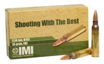 ISRAEL MILITARY INDUSTRIES M193 5.56mm 55 Grain 20rd Box of Full Metal Jacket Centerfire Rifle Ammunition (10-162-9990B9)