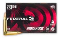 FEDERAL American Eagle 223 Rem 55 Grain 20rd Box of Full Metal Jacket Lead Free Primer Centerfire Rifle Ammunition (AE223NX1)
