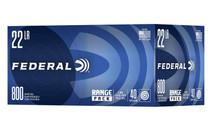 FEDERAL Range Pack 22LR 40 Grain 800rd Box of Lead Round Nose Rimfire Ammunition (729B800)