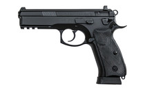 CZ 75 SP-01 Tactical 9mm 4.6in Cold Hammer Forged Barrel 18rd Mags x2 Steel Frame Rubber Grips Night Sights Decocker Semi-Auto Single-Double Action Pistol (91153)